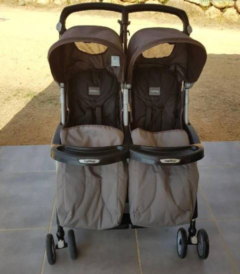 poussette canne double peg perego